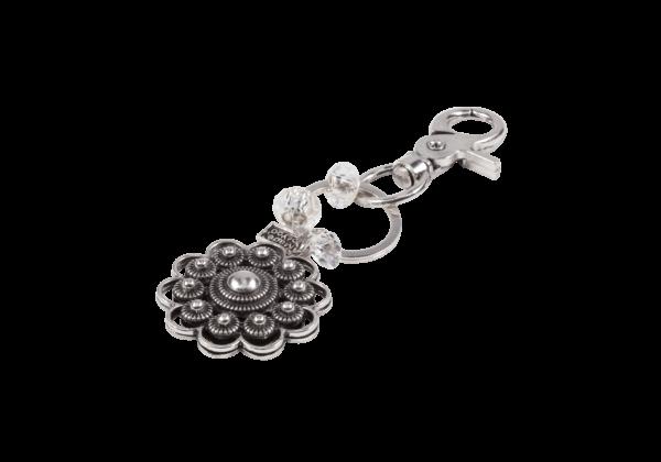 Breskens | Zeeuwse knop sleutelhanger met karabijnhaak