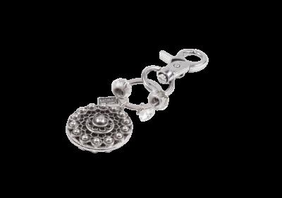 Bruinisse | Zeeuwse sleutelhanger van zilverkleurig stainless steel.