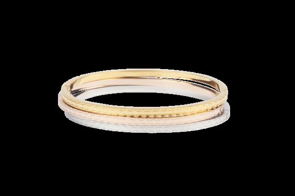 Elegante armband met gegraveerd patroon voor dames. Beschikbaar in klassieke kleuren.