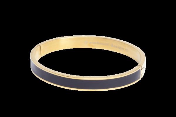 Alexia | Gouden bangle armband voor dames met zwarte binnenkant van Embrace Design