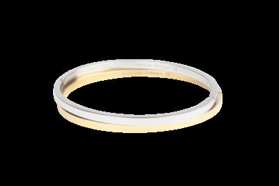 Klassieke bangle armband van stainless steel in goud of zilver.