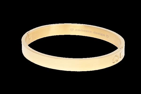 Klassieke gouden armband voor dames gemaakt van stainless steel.