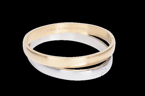 Klassieke armband met onzichtbare sluiting van zilver of goud stainless steel