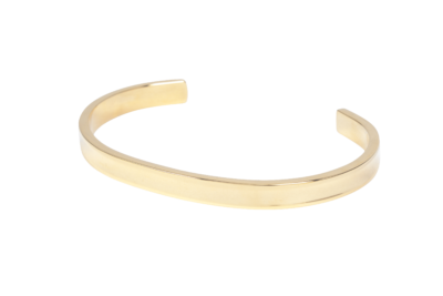 Open armband van stainless steel in klassiek goud.
