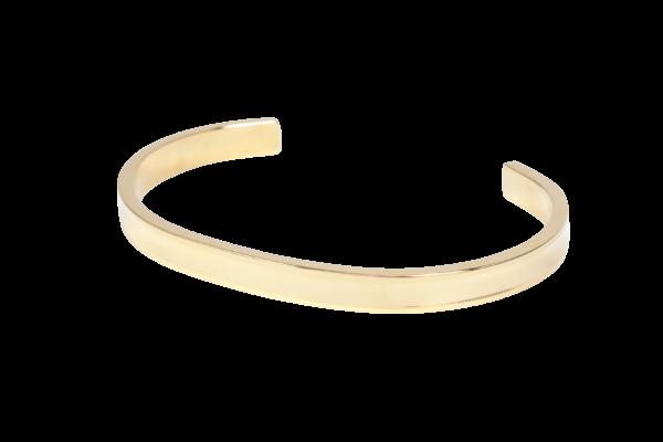 Open armband van stainless steel in klassiek goud.