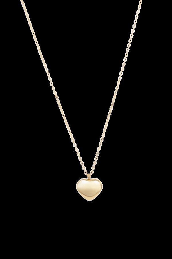 Gouden ketting met hart bedel voor dames