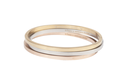 Klassieke bangle armband van Embrace Design in goud, zilver of rose.