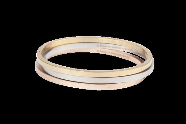 Klassieke bangle armband van Embrace Design in goud, zilver of rose.
